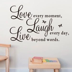 Accessories - Live Love Laugh Black Letters PVC Vinyl Wall Decal